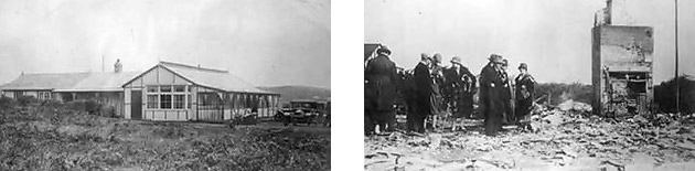 Clubhouse before and after the 1925 fire