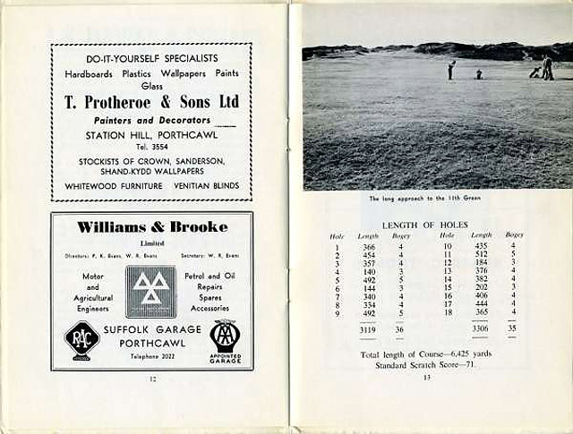 Picture of old scorecard